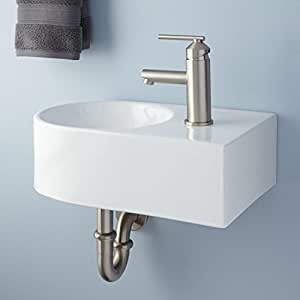 amazon bathroom sinks naiture porcelain wall mount bathroom sink with right 10094