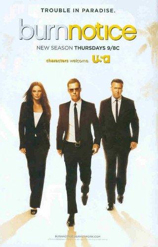 Burn Notice: USA TV New Season: Sexy Gabrielle Anwar, Jeffrey Donovan, Bruce Campbell: Great Original Photo Print Ad! (Michael Von Burn Notice)