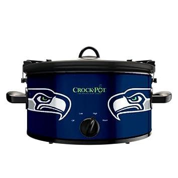 Official NFL Crock-pot Cook Carry 6 Quart Slow Cooker – Seattle Seahawks