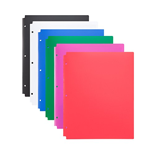 (COMIX 2 Pocket Letter Size Poly File Portfolio Folder with 3-Hole Punch - 12 Pack (Assorted) A2140)