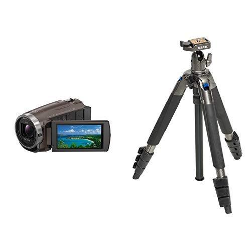 ソニー SONY ビデオカメラ Handycam 光学30倍 内蔵メモリー64GB ブロンズブラウンHDR-CX680 TI + SLIK 三脚   B07M95N7VK