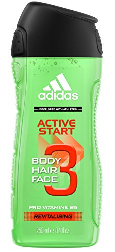 Adidas 8.4-Ounce Active Star 3 Body and Hair and Face Gel