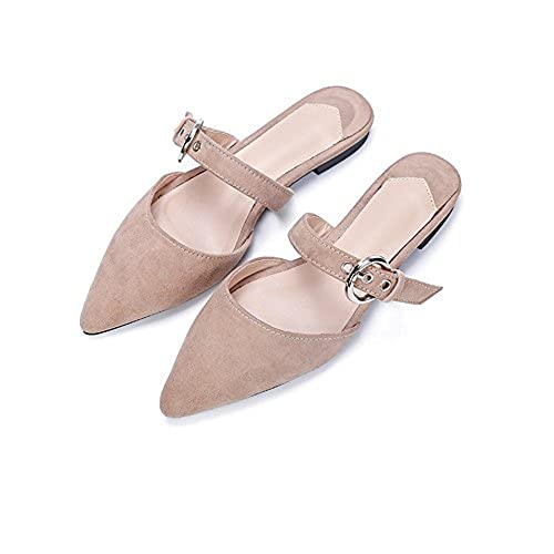 cheap Women's Memory Foam Slip On Pointed Toe Flat Mule big discount