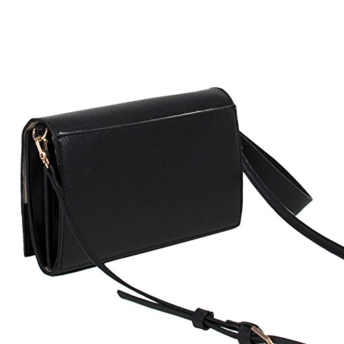 DE Kleine Laser Tasche Damen Leder Schultertasche Cover Handytasche Geldbörse