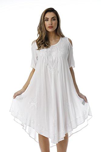 Riviera Sun 21807-WHT-L Dress/Dresses for Women White