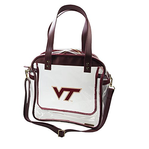 (Capri Designs Clear Carryall Tote Stadium Approved - Virginia Tech Hokies)