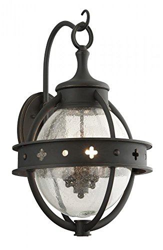 Troy Landscape Lighting - Troy Lighting Mendocino 4-Light Outdoor Wall Lantern - Forged Black Finish with Clear Seeded Glass