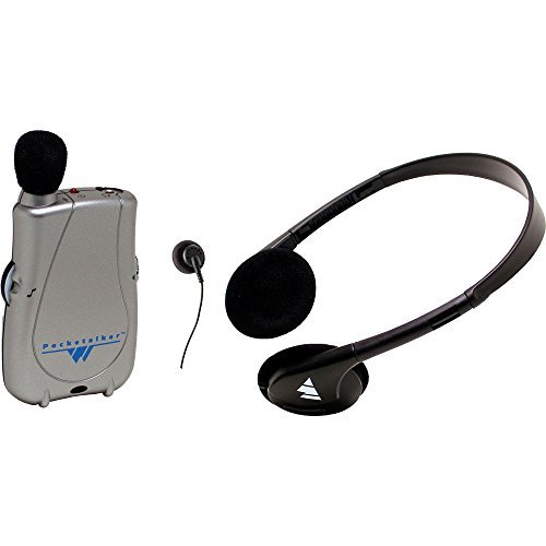 (Williams Sound PKT D1 H26 Pocketalker Ultra with Rear-wear Headphone, 200 hours of battery life, Adjustable tone and volume control, Accommodates a variety of earphone and headphone options)