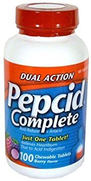Pepcid Complete Dual Action Acid Reducer and Antacid Berry Flavored Chewable Tablets 100 Count Bottle by Pepcid Complete (Complete Pepcid Chewable)
