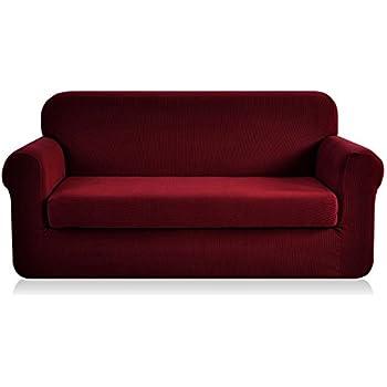 Amazon.com: Subrtex 2-Piece Spandex Stretch Slipcover (Sofa ...