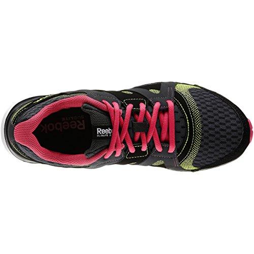 Reebok - Zapatillas de running para mujer Gris Gravel/Black/Pink/Yellow Gris - Gravel/Black/Pink/Yellow