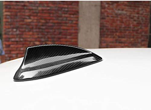 SENLINSQ リアルカーボンファイバーシャークフィンアンテナカバー、BWM XシリーズX5 F15 F85 X5M X4 F26シャークフィン自動ルーフアンテナカバー装飾2015-in