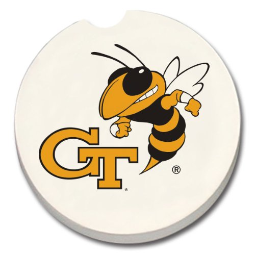 NCAA Georgia Tech Absorbent Car Coaster (Tech Beverage Georgia)