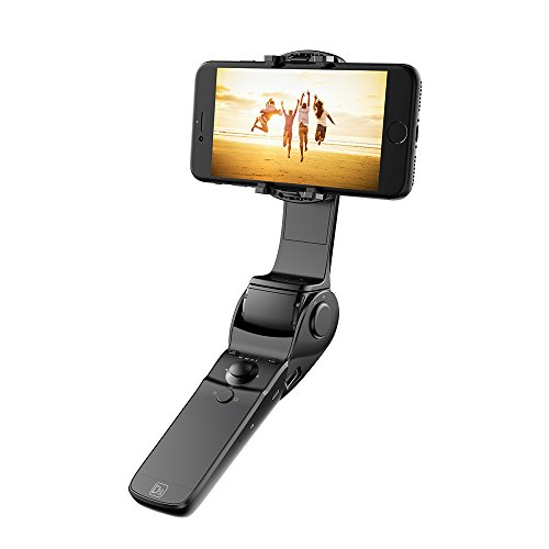 Hohem Handheld Gimbal Stabilizer with Innovative Folding Design and Equipped with Charging Function for iphone 7plus/6S plus/6 plus Android Smartphones (Black)
