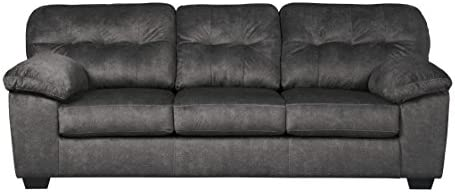 Ashley Furniture Signature Design - Accrington Contemporary Upholstered Sofa - Granite Grey