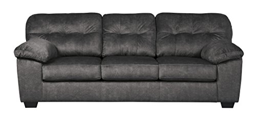 - Ashley Furniture Signature Design - Accrington Contemporary Upholstered Sofa - Granite Grey