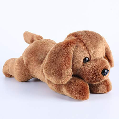KARRI Baby Dog Stuffed Animal, 14 Inch Brown Baby Dog Plush Toy, Ultra Soft Dog Plush Dolls for Girls, Boys, Kids