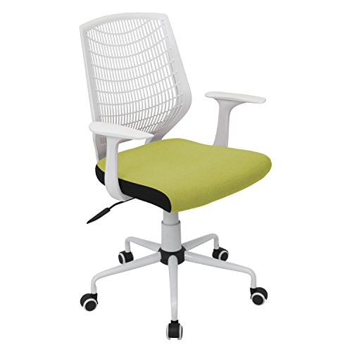 UPC 681144467043, LumiSource Network Office Chair in White/Green OFC-NET-W+LG