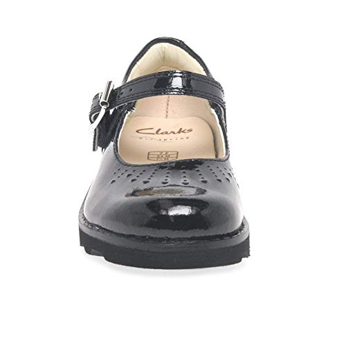 Patent Noir Mocassins T Fille black Jump Crown Clarks tSXwq0X