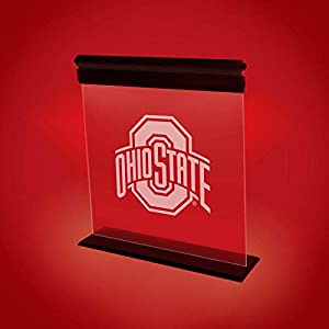 OHIO STATE BUCKEYES ACRYLIC LED LIGHT DISPLAY MAN CAVE OFFICE