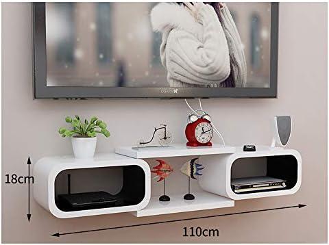 DERTL Mueble de TV móvil pequeño Mueble Colgante Espacio de Almacenamiento para Media Center Consola de Juegos Consola Audio/vídeo con Estante Abierto (110 x 18 cm): Amazon.es: Hogar