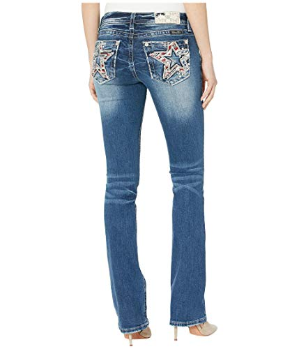 Miss Me Star Behavior Slim Bootcut Jeans Dark Blue ()