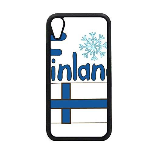 DIYthinker Carcasa para iPhone XR, diseño de Bandera de Finlandia, Color Azul