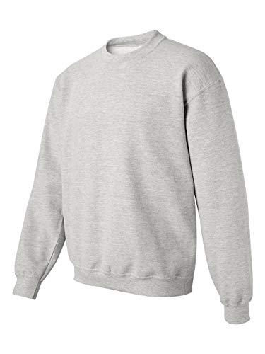 Cotton Ribbed Sweatshirt - Gildan Men's Heavy Blend Crewneck Sweatshirt - XXXXX-Large - Ash