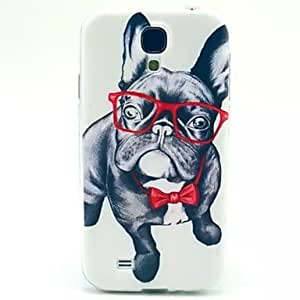 qyf Glasses Dog Pattern TPU Soft Cover for Samsung Galaxy S4 MINI I9190