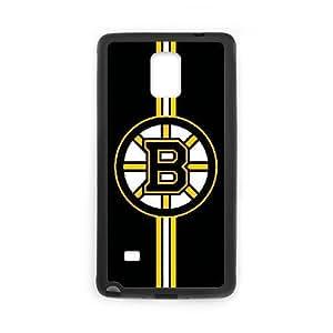 Custom for Samsung Galaxy Note 4 Cell Phone Case Black Boston Bruins HSKFJADSF2429