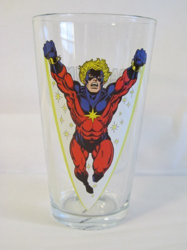 Captain Marvel Toon Tumbler 16 Oz. Pint Glass Marvel Comics