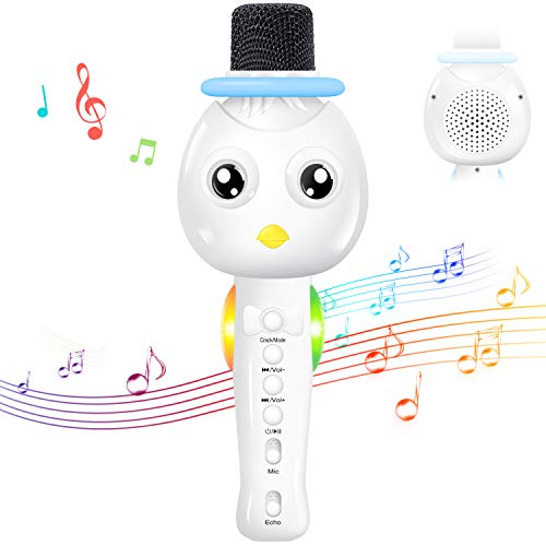 TONOR Kids Microphone, Wireless Portable Karaoke Bluetooth Mic for Kids with Speaker and Colorful Lights for Home Party KTV Birthday Gift Compatible with PC/iPad/iPhone/Android Smartphone by TONOR (Image #7)