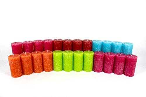 12 kg / 24 Stück Rustik-Stumpen-Kerzen, Rustic, Stumpenkerzen, Kerzen, Kerze, Rustik,Rustikkerzen, Stumpenkerze, 1. Wahl,