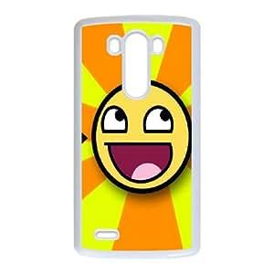 Smiley-face LG G3 Cell Phone Case White UI8306316