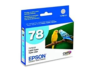 Epson 78 Light Cyan OEM Ink Cartridge - 515 Pages (T078520)
