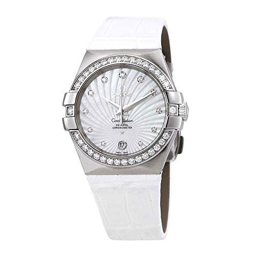 - Omega Constellation Co-Axial Automatic Chronometer Diamond White Mother of Pearl Dial Ladies Watch 123.18.35.20.55.001