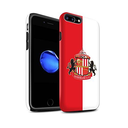 Officiel Sunderland AFC Coque / Matte Robuste Antichoc Etui pour Apple iPhone 7 Plus / Rouge/Blanc Design / SAFC Crête Club Football Collection