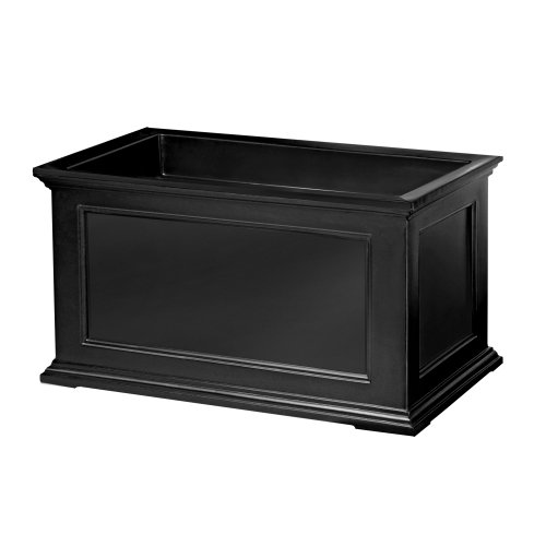 Mayne Fairfield 5826B Patio Planter, 20-Inch by 36-Inch, Black by Mayne