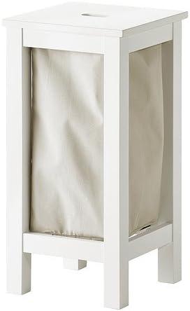 Ikea Hjalmaren Sac A Linge Avec Support Blanc 35 L Amazon Fr Cuisine Maison
