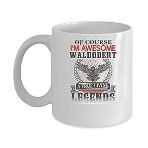 WALDOBERT Coffee Mug - Personalized Name Mugs Gift for WALDOBERT Him, Her, Adult - On Chritmas Day, Thank's Giving, Birthday - I'm Awesome WALDOBERT 11 Oz Funny White Mugs