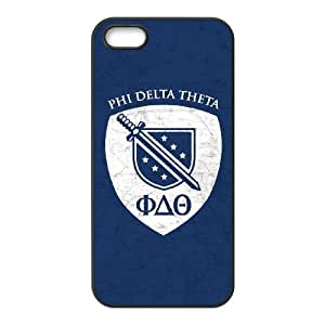 iPhone 4 4s Cell Phone Case Black Phi Delta Theta Bruised W9S5SS