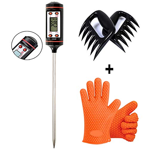 BQMittens Thermometer Waterproof Resistant BBQ gloves