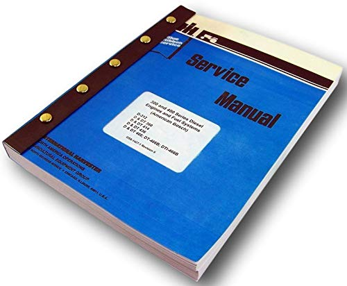 International 1470 Hillside Combine Diesel Engine Service Repair Shop Manual ()