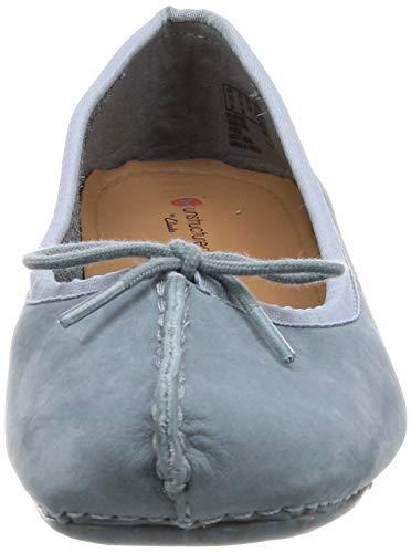 Nubuck Blu Clarks Donna Freckle Ice blue Grey Ballerine qHwwz0TFn8