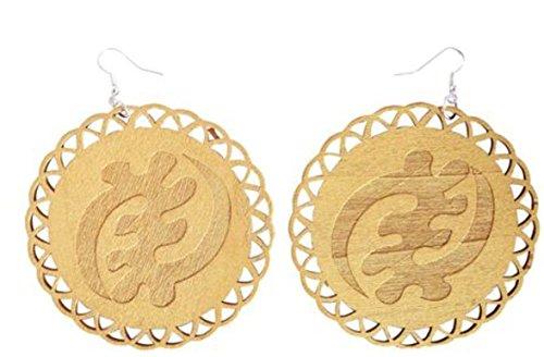 Gye Nyame Ring (Gold Gye Nyame Wood Earrings)