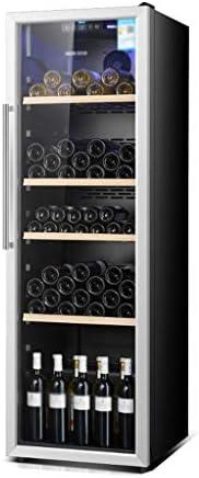 WANGLX マンショーのための大規模なワインと飲料冷蔵庫付きガラスドアとLEDブルーライト、40dBの、310 L、赤ワインキャビネット冷蔵庫ホームアイスバー、ルームアクセサリーあなたのアイデンティティ
