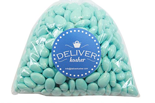 Deliver Kosher Bulk Candy - Light Blue Jordan Almonds - 3lb Bag