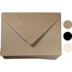 "Kraft Invitation Envelope A7 Size 100 Pcs, by Secret Life 5 1/4"" x 7 1/4""inches (Kraft 100)"