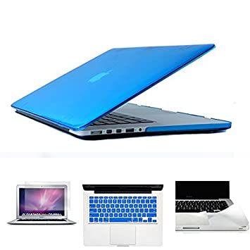 Crystal Clear Case para MacBook Air Pro Retina 11 12 13 15 bolsa de ordenador portátil