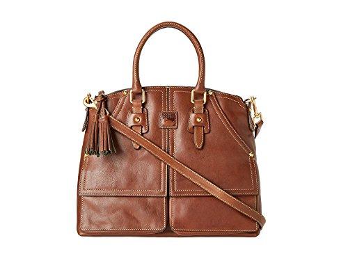 Dooney & Bourke Florentine Clayton Satchel Chestnut (Dooney And Bourke Double Strap Tassel Bag)